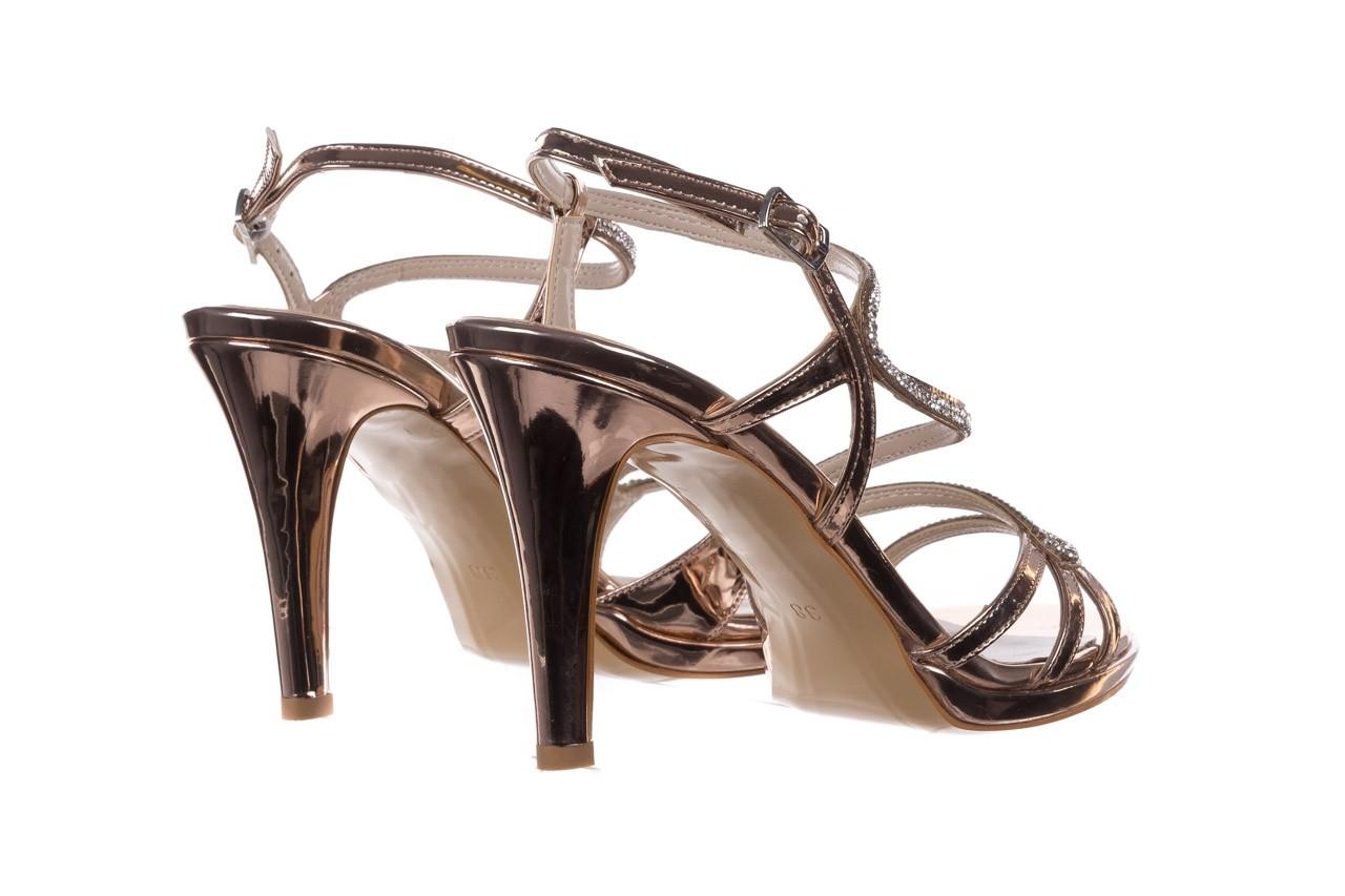 Sandały bayla-187 587-531 róż, skóra ekologiczna  - na obcasie - sandały - buty damskie - kobieta 10
