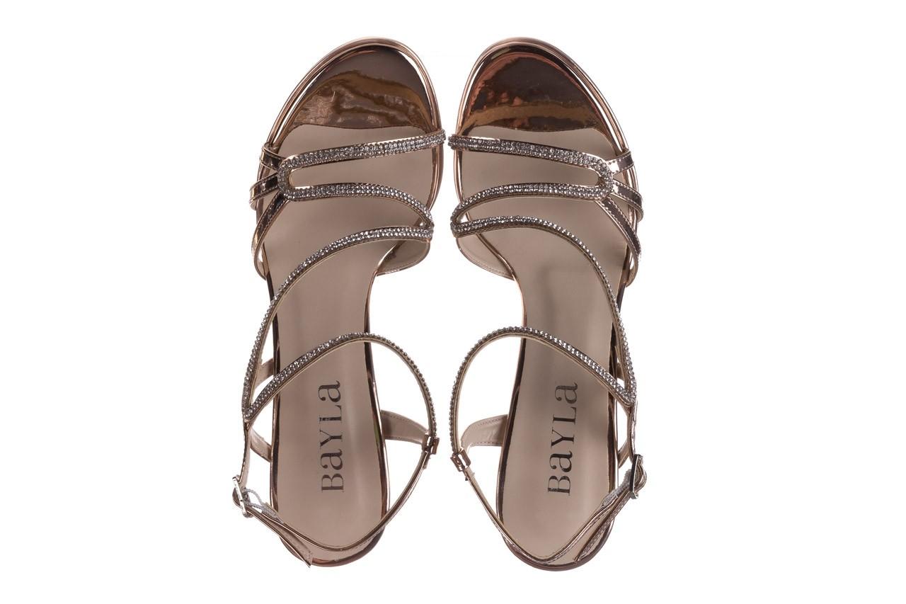 Sandały bayla-187 587-531 róż, skóra ekologiczna  - na obcasie - sandały - buty damskie - kobieta 11