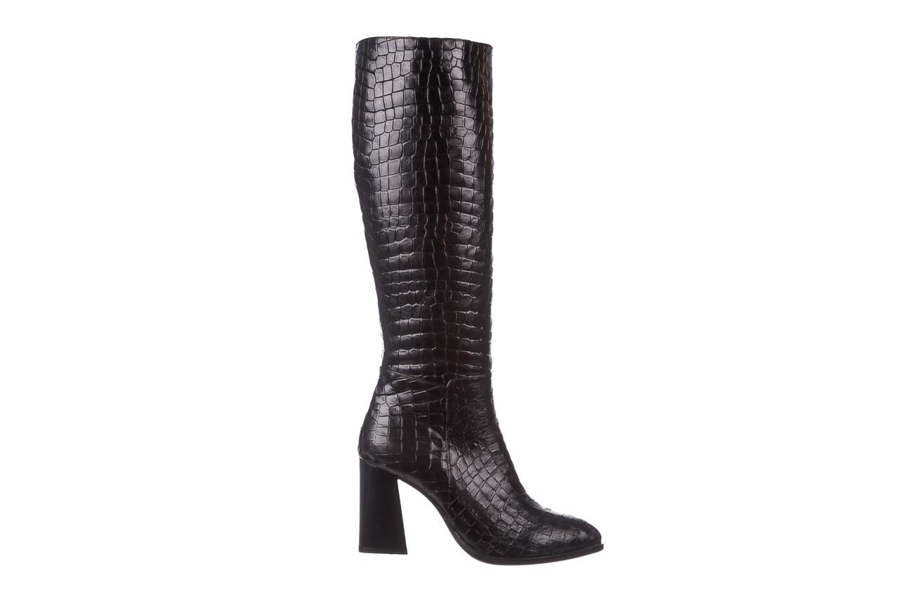 Kozaki bayla-195 20k-7004 black croco 195010, czarny, skóra naturalna  - kozaki - buty damskie - kobieta 10