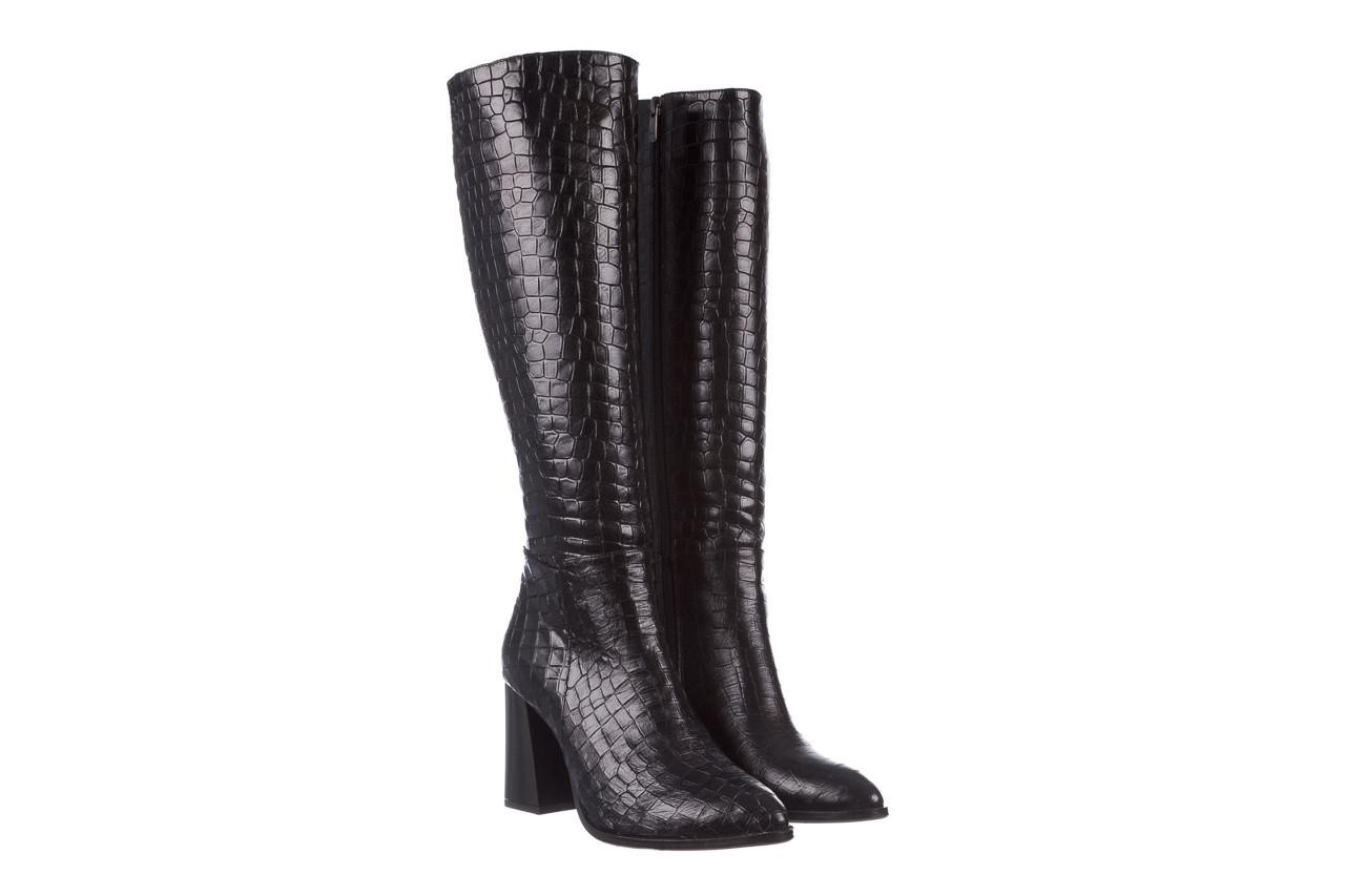 Kozaki bayla-195 20k-7004 black croco 195010, czarny, skóra naturalna  - kozaki - buty damskie - kobieta 11