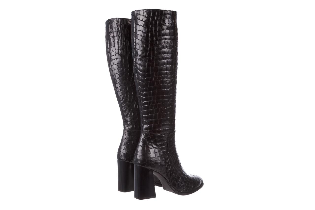 Kozaki bayla-195 20k-7004 black croco 195010, czarny, skóra naturalna  - kozaki - buty damskie - kobieta 14