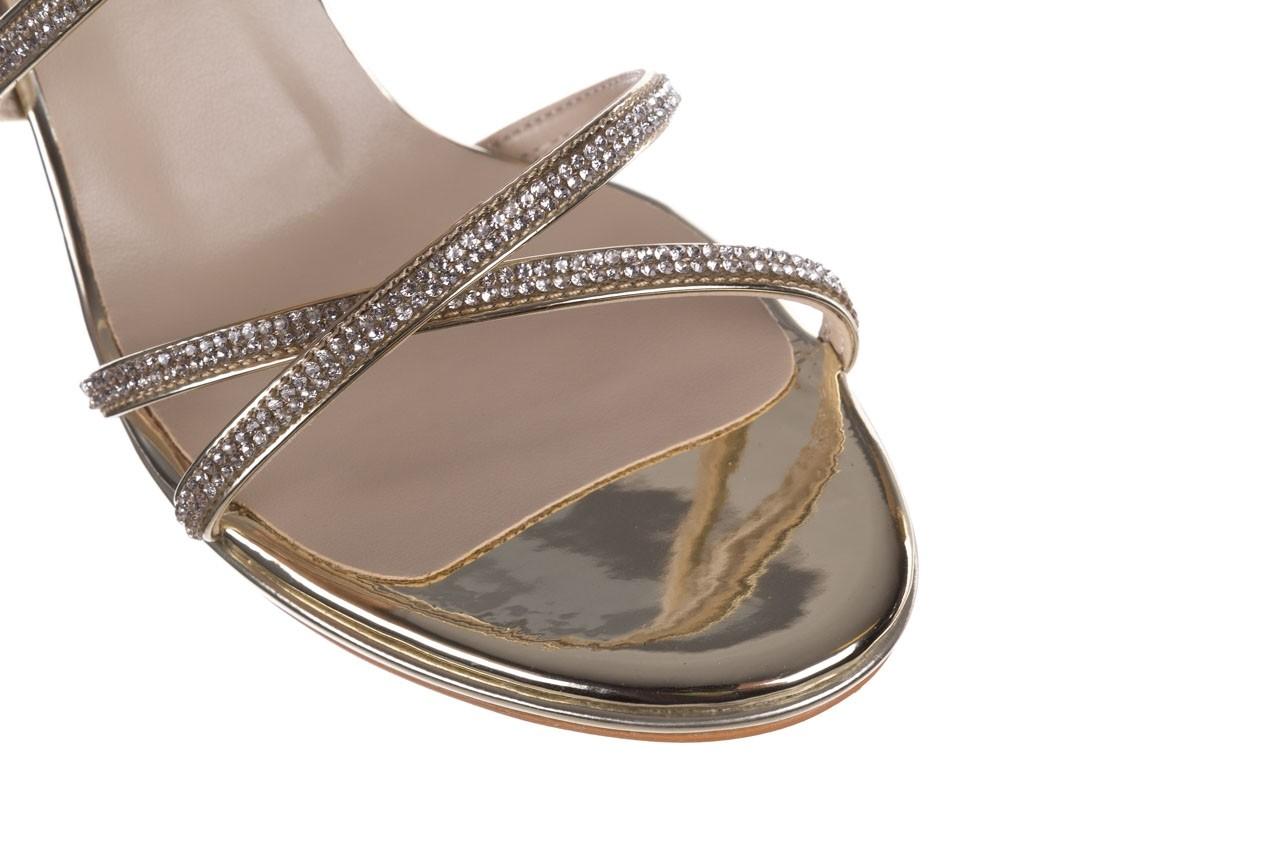 Sandały bayla-187 587-9078 złoty, skóra ekologiczna  - mega okazje - ostatnie rozmiary 12