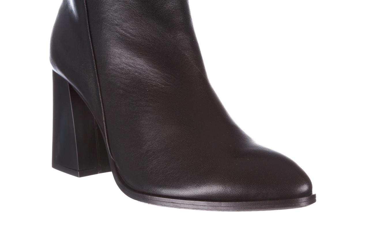 Kozaki bayla-195 20k-7007 black 195011, czarny, skóra naturalna  - kozaki - buty damskie - kobieta 15