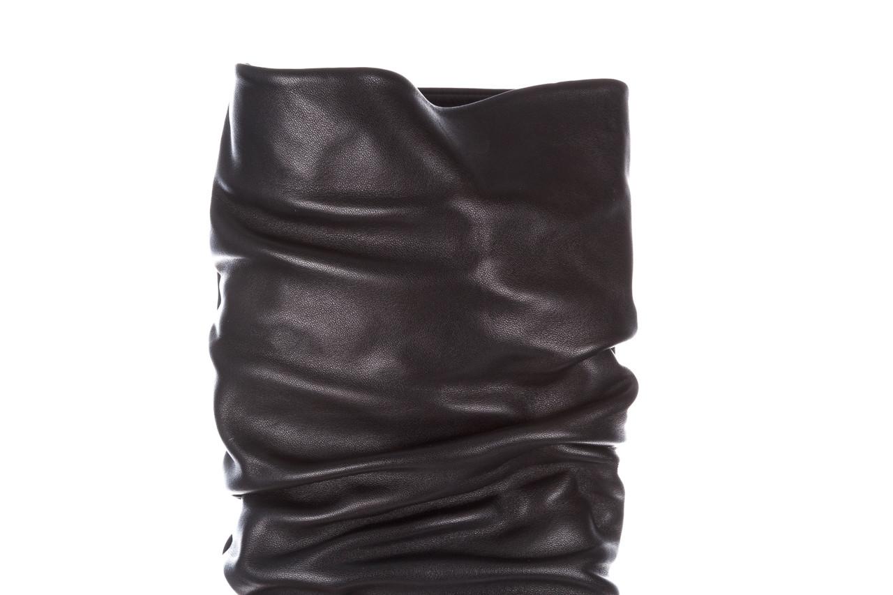 Kozaki bayla-195 20k-7007 black 195011, czarny, skóra naturalna  - kozaki - buty damskie - kobieta 18