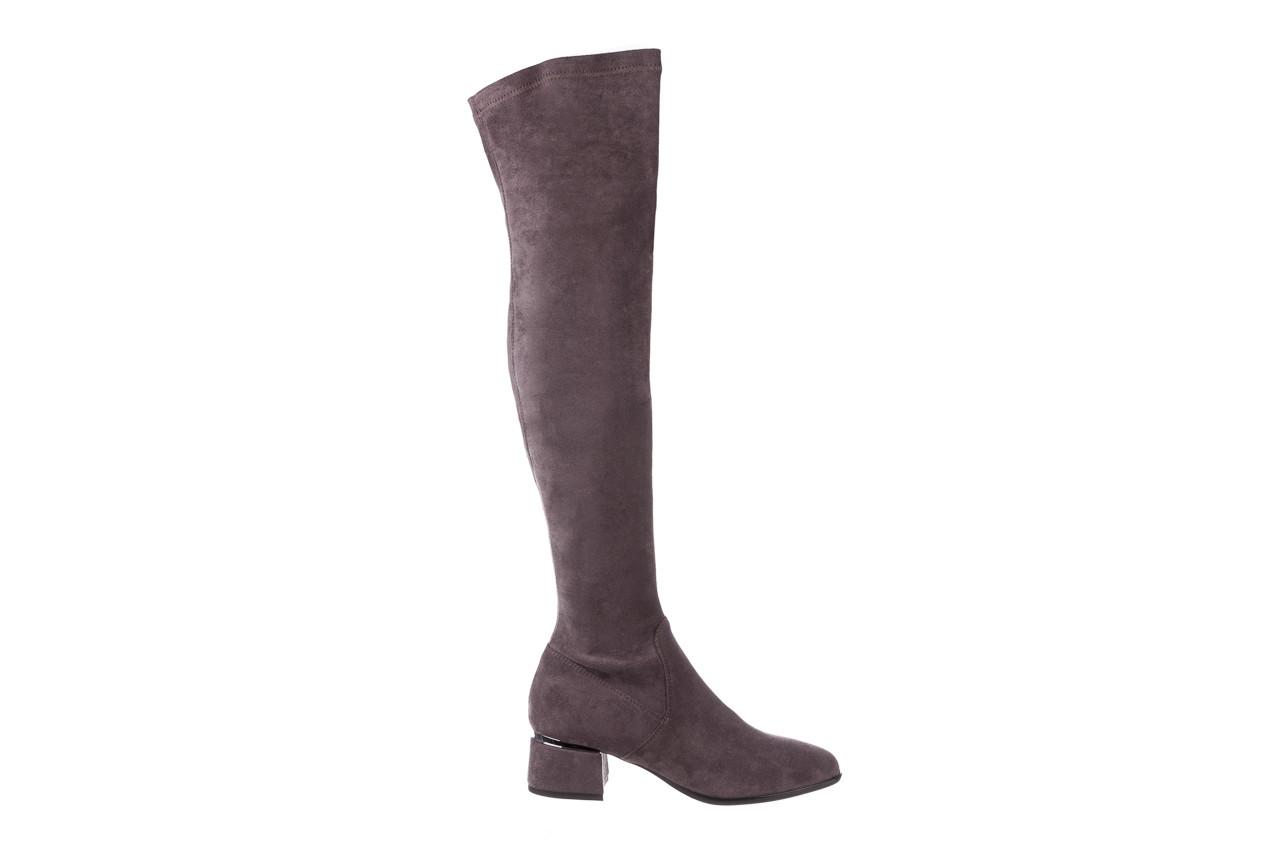 Kozaki bayla-056 9725-1801 szary 056520, skóra naturalna  - kozaki - buty damskie - kobieta 10