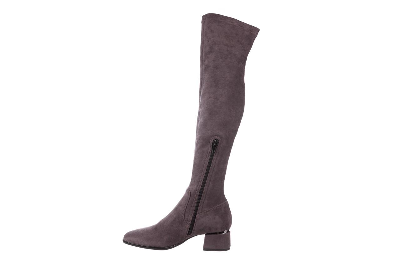 Kozaki bayla-056 9725-1801 szary 056520, skóra naturalna  - kozaki - buty damskie - kobieta 13