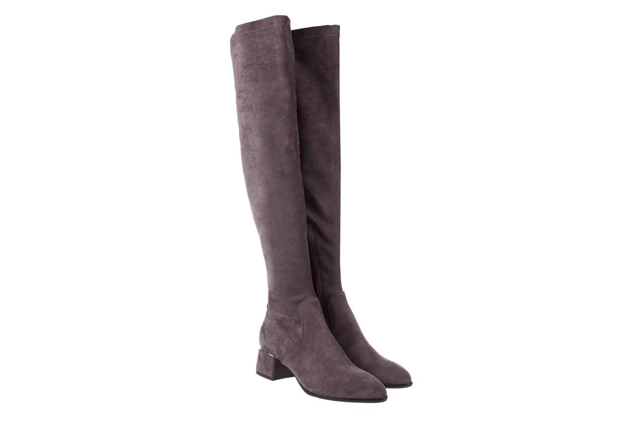 Kozaki bayla-056 9725-1801 szary 056520, skóra naturalna  - kozaki - buty damskie - kobieta 11