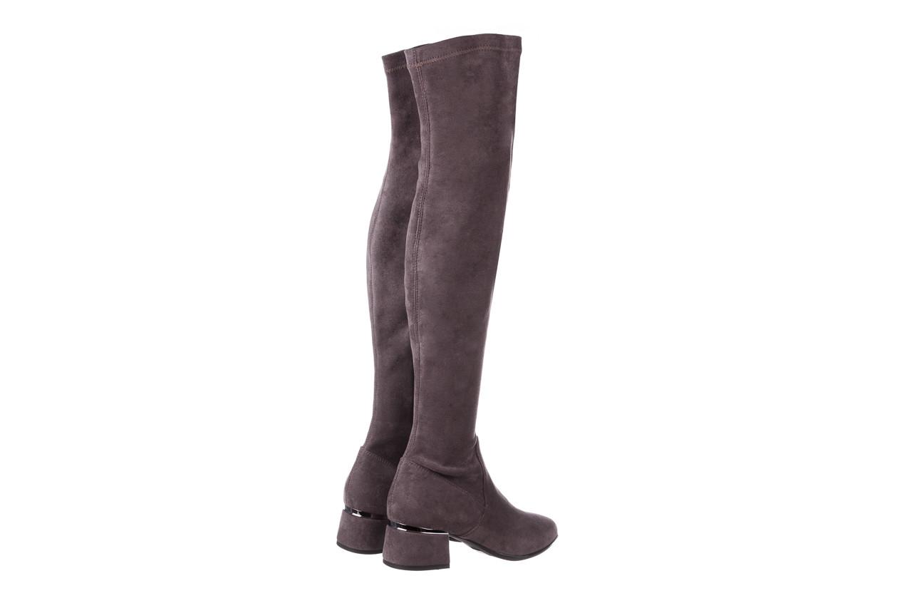 Kozaki bayla-056 9725-1801 szary 056520, skóra naturalna  - kozaki - buty damskie - kobieta 14