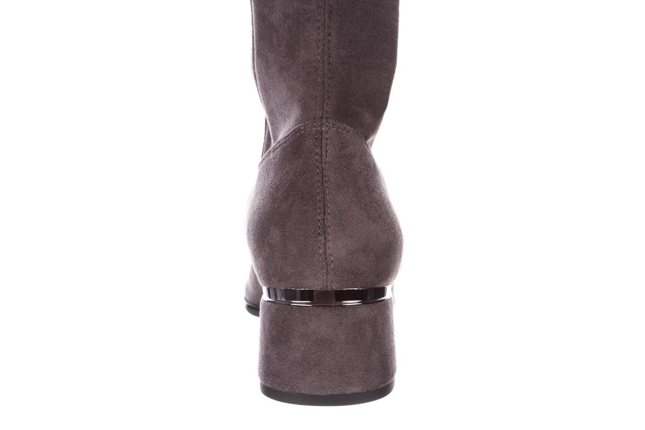 Kozaki bayla-056 9725-1801 szary 056520, skóra naturalna  - kozaki - buty damskie - kobieta 17