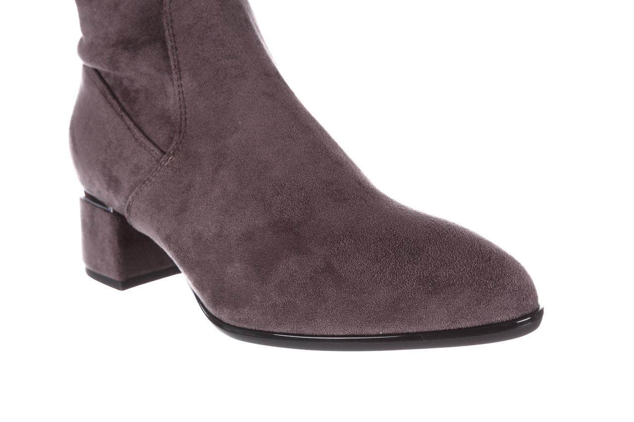 Kozaki bayla-056 9725-1801 szary 056520, skóra naturalna  - kozaki - buty damskie - kobieta 19