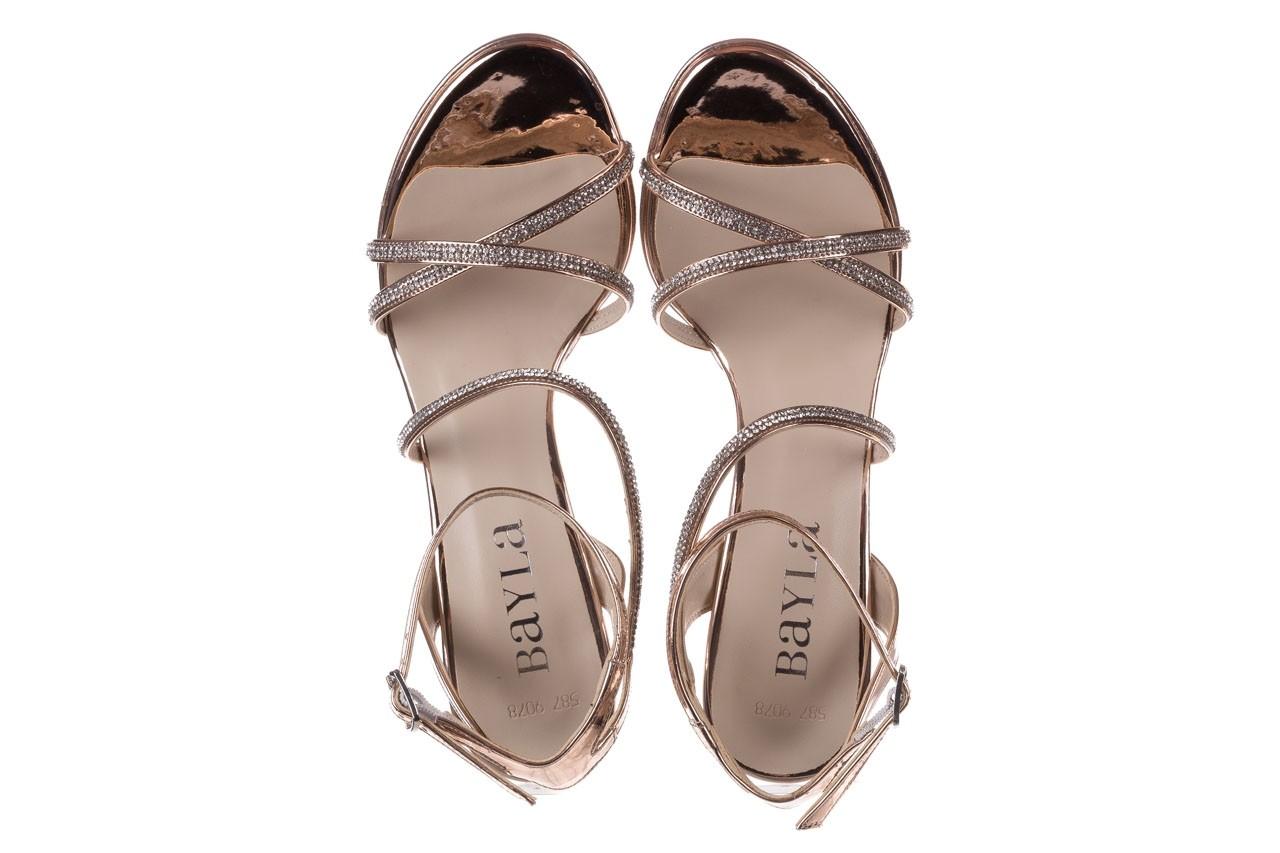 Sandały bayla-187 587-9078 róż j, skóra ekologiczna  - szpilki - buty damskie - kobieta 11