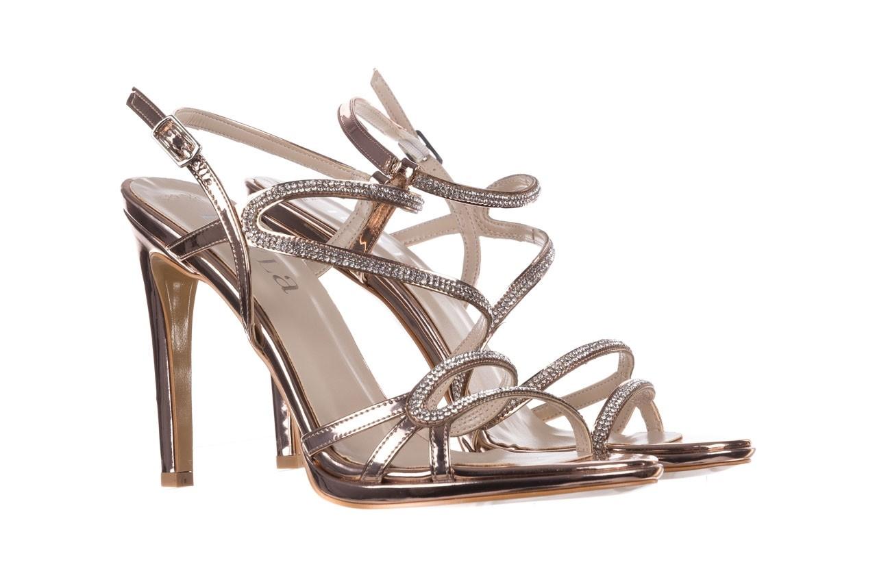 Sandałki bayla-187 589-531 róż, skóra ekologiczna  - na obcasie - sandały - buty damskie - kobieta 8