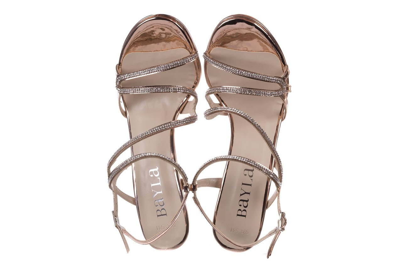 Sandałki bayla-187 589-531 róż, skóra ekologiczna  - na obcasie - sandały - buty damskie - kobieta 11