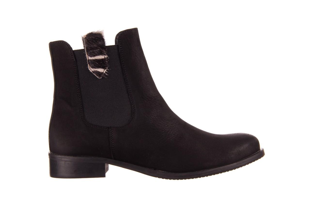 Botki bayla-157 b010-003-f czarny, skóra naturalna  - zamszowe - botki - buty damskie - kobieta 9