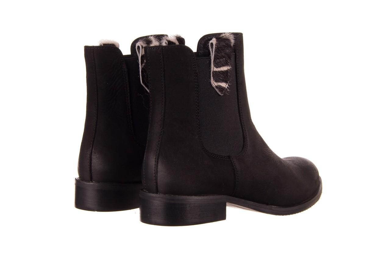 Botki bayla-157 b010-003-f czarny, skóra naturalna  - zamszowe - botki - buty damskie - kobieta 12