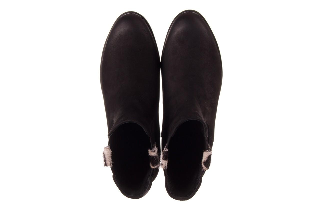 Botki bayla-157 b010-003-f czarny, skóra naturalna  - zamszowe - botki - buty damskie - kobieta 13