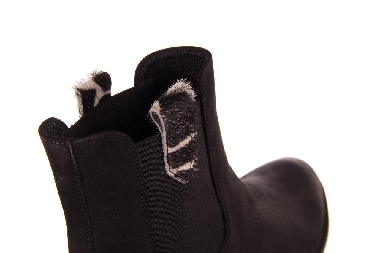 Botki bayla-157 b010-003-f czarny, skóra naturalna  - zamszowe - botki - buty damskie - kobieta 14