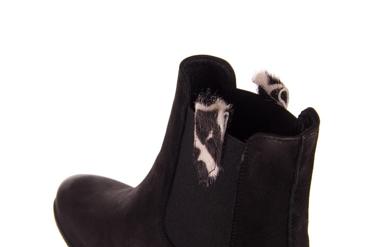 Botki bayla-157 b010-003-f czarny, skóra naturalna  - zamszowe - botki - buty damskie - kobieta 15
