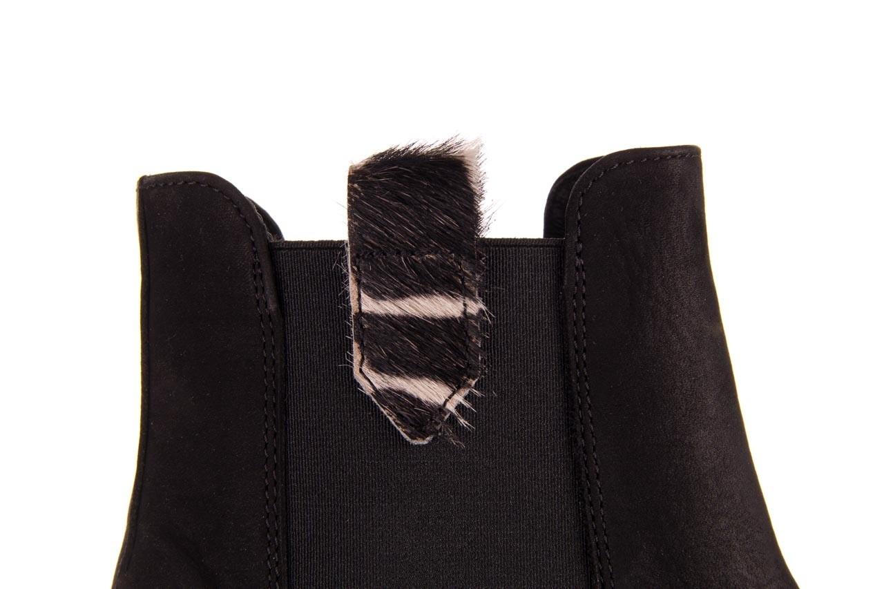 Botki bayla-157 b010-003-f czarny, skóra naturalna  - zamszowe - botki - buty damskie - kobieta 16