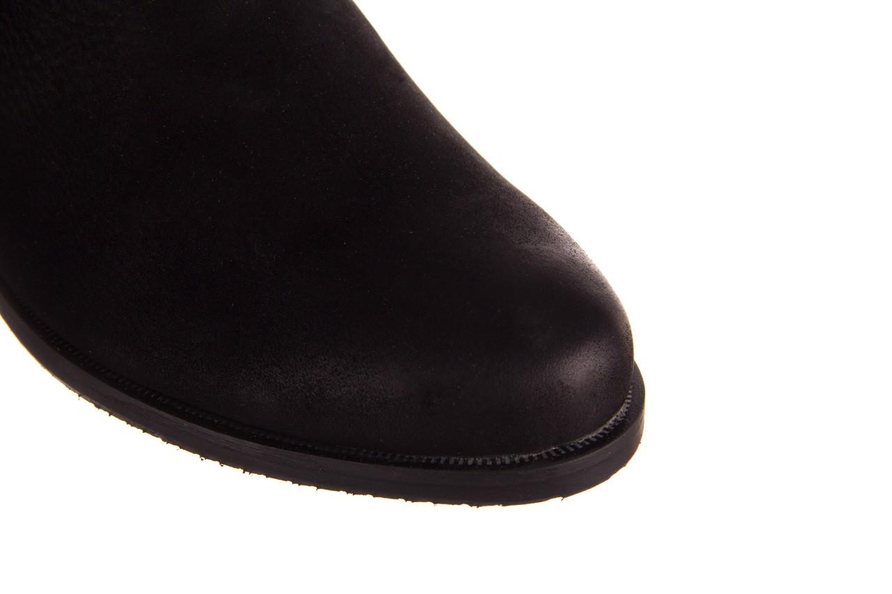 Botki bayla-157 b010-003-f czarny, skóra naturalna  - zamszowe - botki - buty damskie - kobieta 17