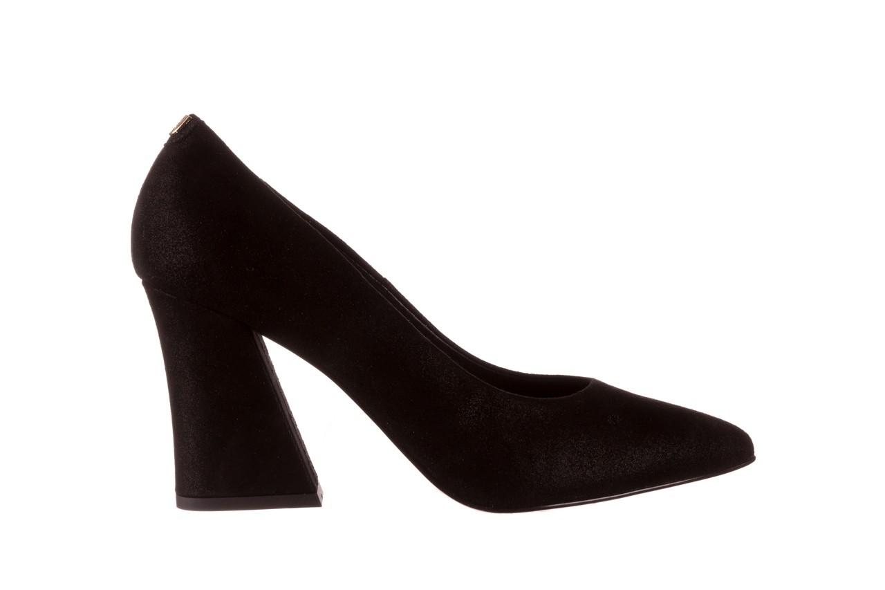 Czółenka bayla-056 9570-1445 czarny zamsz, skóra naturalna  - zamszowe - czółenka - buty damskie - kobieta 7