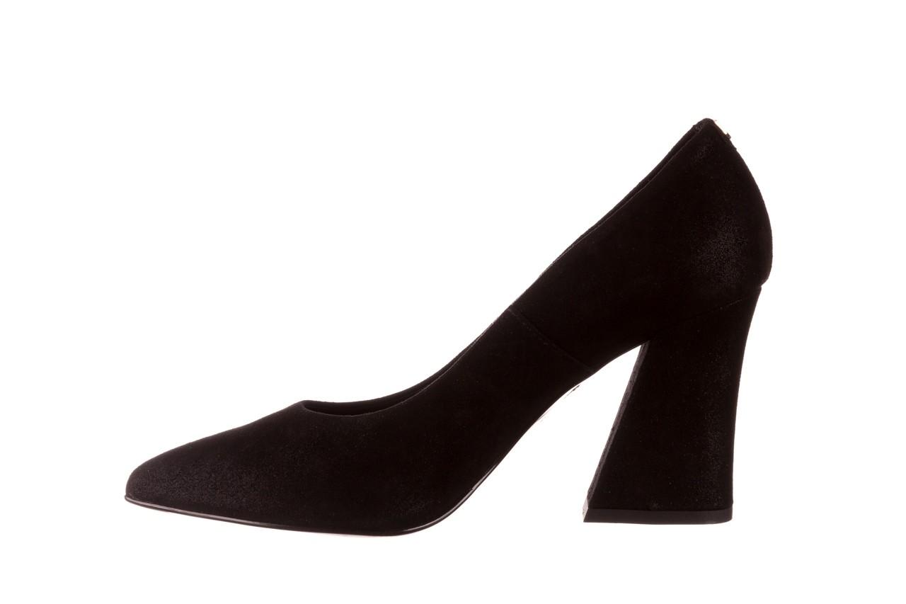 Czółenka bayla-056 9570-1445 czarny zamsz, skóra naturalna  - zamszowe - czółenka - buty damskie - kobieta 9