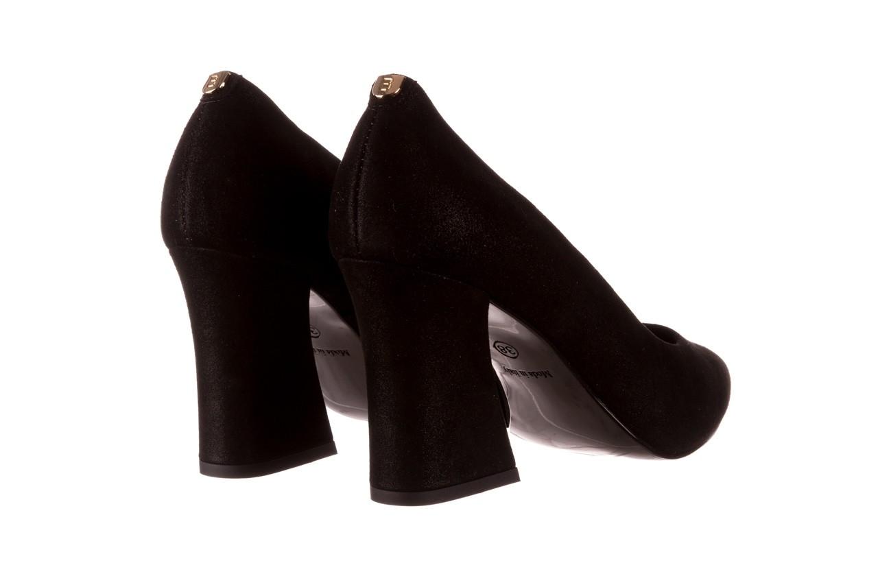 Czółenka bayla-056 9570-1445 czarny zamsz, skóra naturalna  - zamszowe - czółenka - buty damskie - kobieta 10