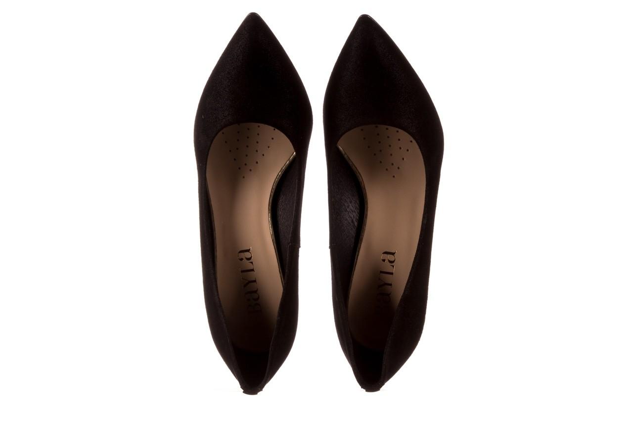 Czółenka bayla-056 9570-1445 czarny zamsz, skóra naturalna  - zamszowe - czółenka - buty damskie - kobieta 11