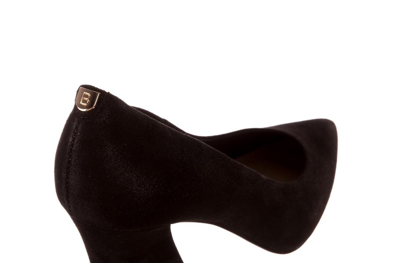Czółenka bayla-056 9570-1445 czarny zamsz, skóra naturalna  - zamszowe - czółenka - buty damskie - kobieta 12