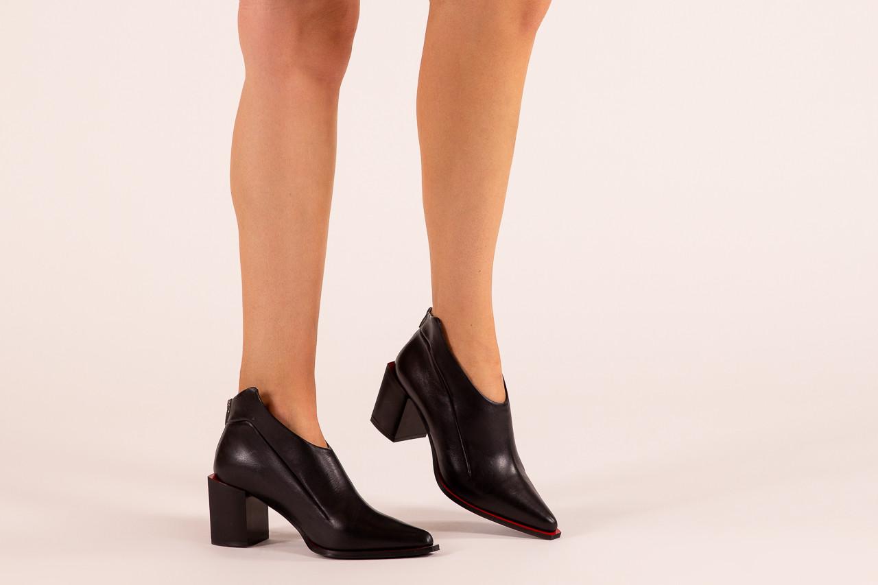 Botki bayla-195 20k-7204 black 195022, czarny, skóra naturalna  - skórzane - botki - buty damskie - kobieta 12