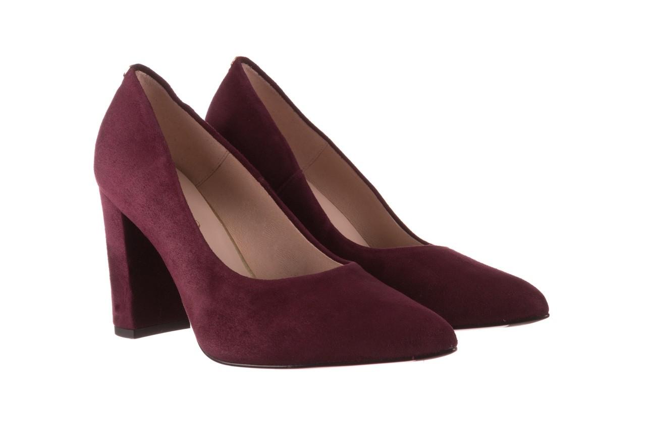 Czółenka bayla-056 9119-1321 fiolet zamsz, skóra naturalna  - na słupku - czółenka - buty damskie - kobieta 8
