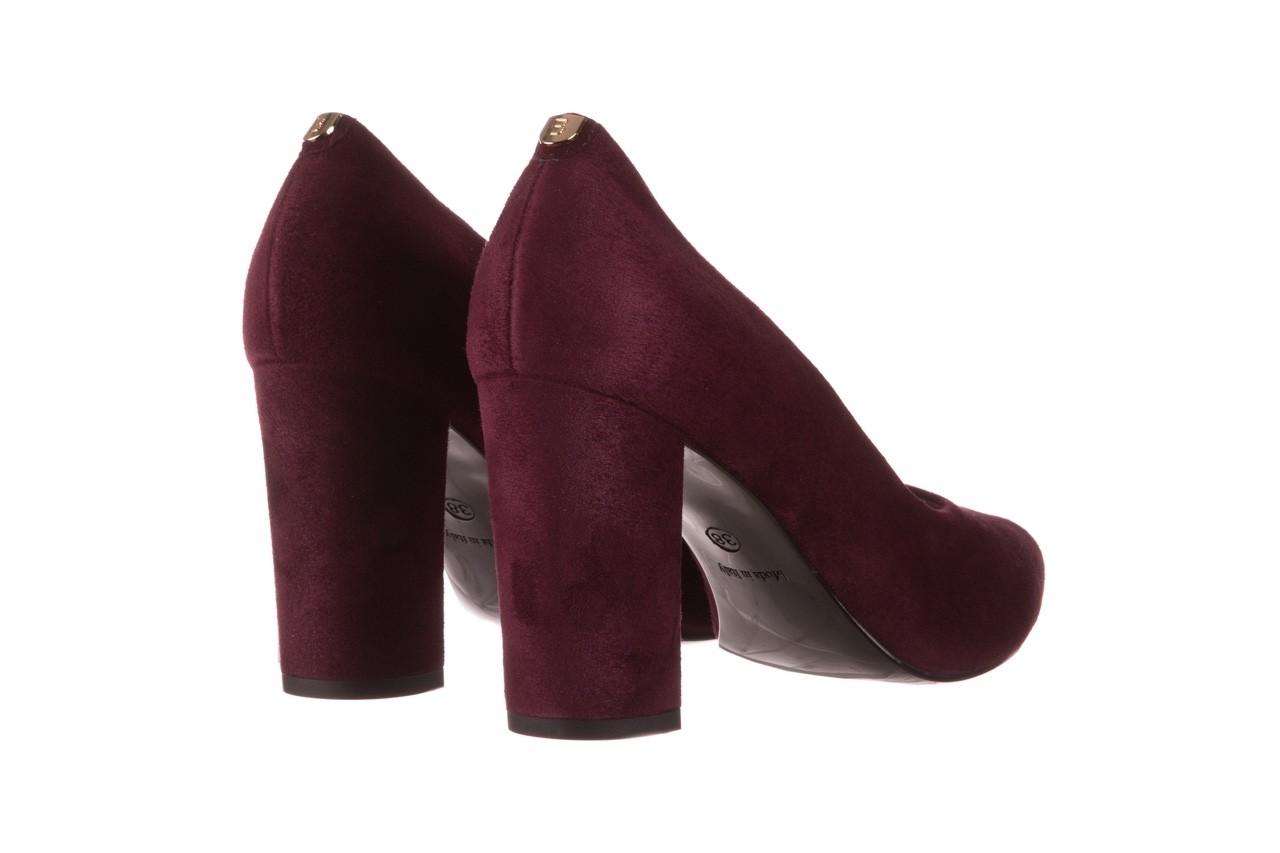 Czółenka bayla-056 9119-1321 fiolet zamsz, skóra naturalna  - na słupku - czółenka - buty damskie - kobieta 10