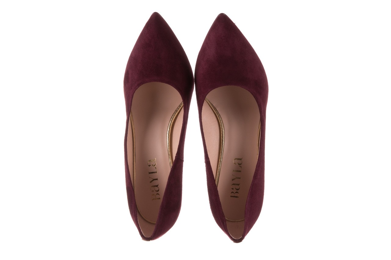Czółenka bayla-056 9119-1321 fiolet zamsz, skóra naturalna  - na słupku - czółenka - buty damskie - kobieta 11