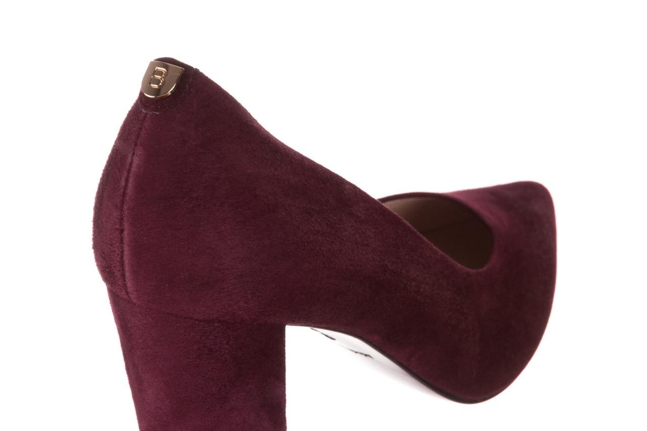 Czółenka bayla-056 9119-1321 fiolet zamsz, skóra naturalna  - na słupku - czółenka - buty damskie - kobieta 12