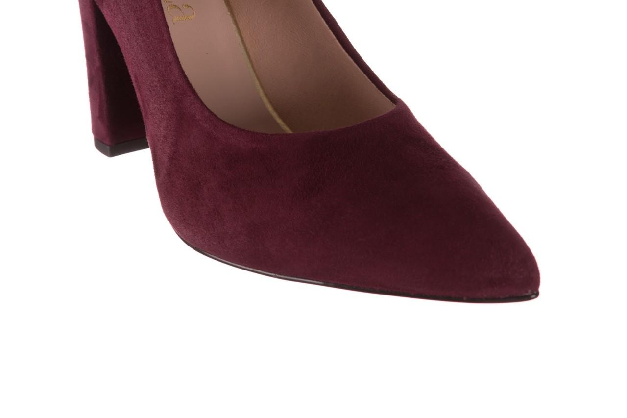Czółenka bayla-056 9119-1321 fiolet zamsz, skóra naturalna  - na słupku - czółenka - buty damskie - kobieta 13