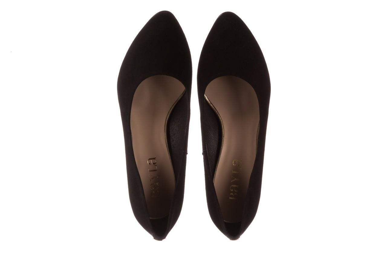Czółenka bayla-056 9469-21 czarny zamsz, skóra naturalna  - zamszowe - czółenka - buty damskie - kobieta 11