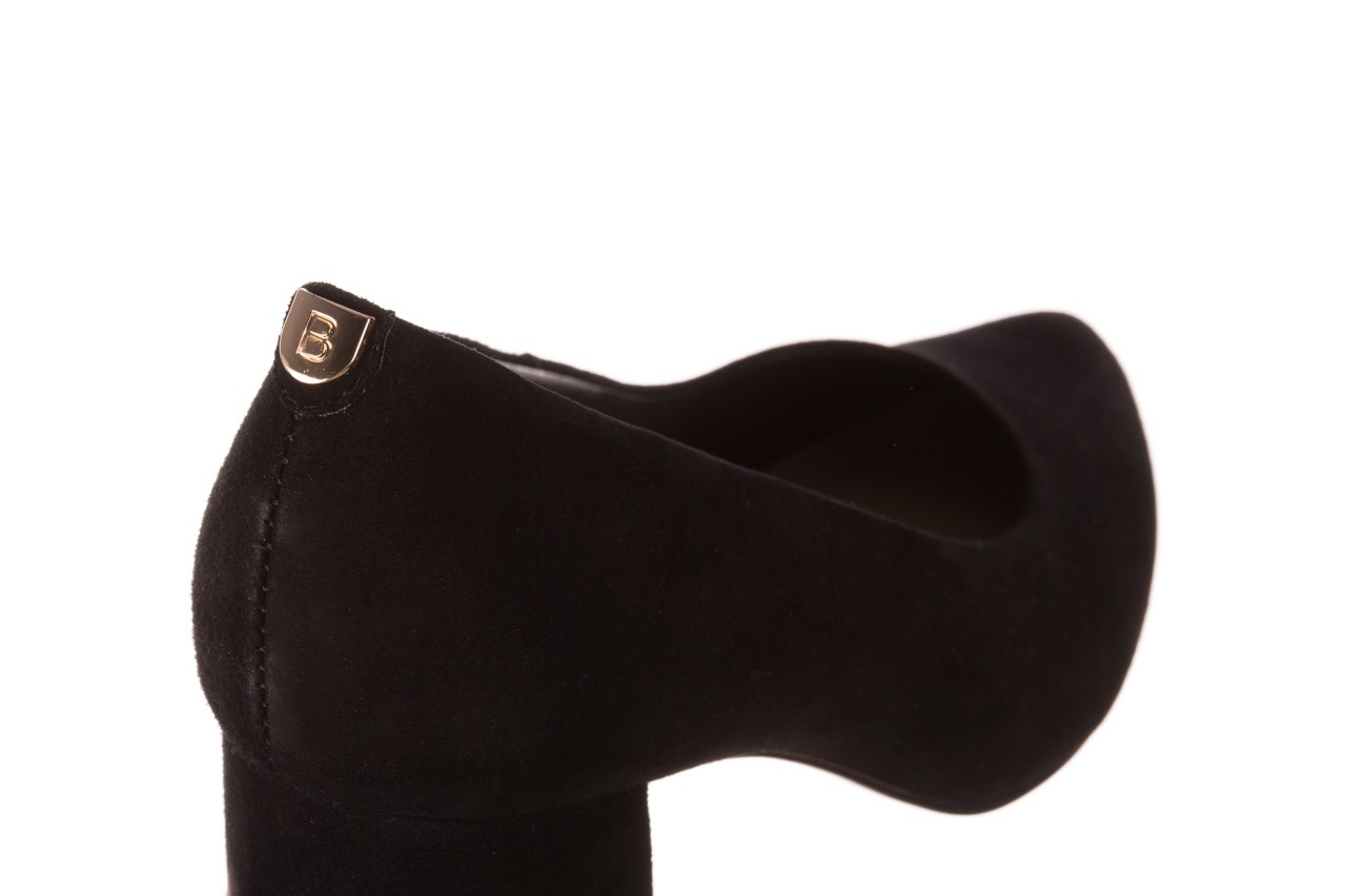 Czółenka bayla-056 9469-21 czarny zamsz, skóra naturalna  - zamszowe - czółenka - buty damskie - kobieta 12