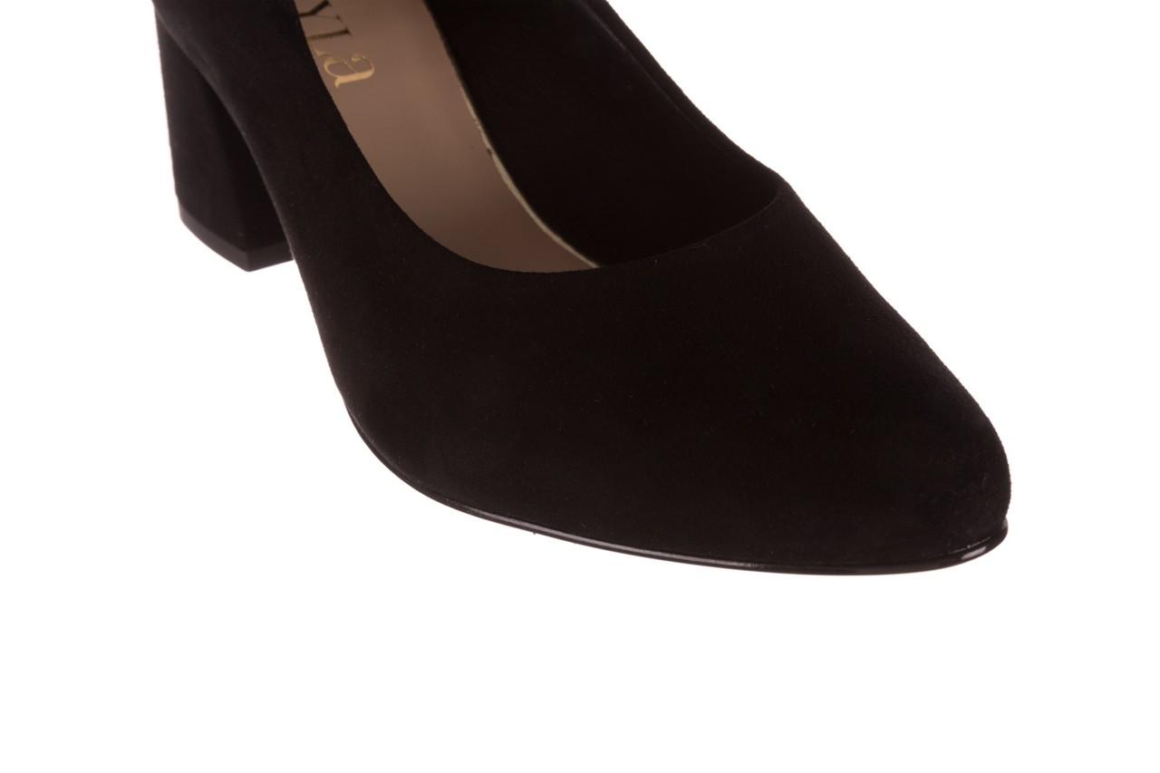 Czółenka bayla-056 9469-21 czarny zamsz, skóra naturalna  - zamszowe - czółenka - buty damskie - kobieta 13