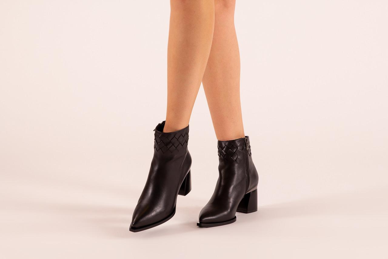 Botki bayla-195 20k-6811 black 195005, czarny, skóra naturalna  - skórzane - botki - buty damskie - kobieta 13