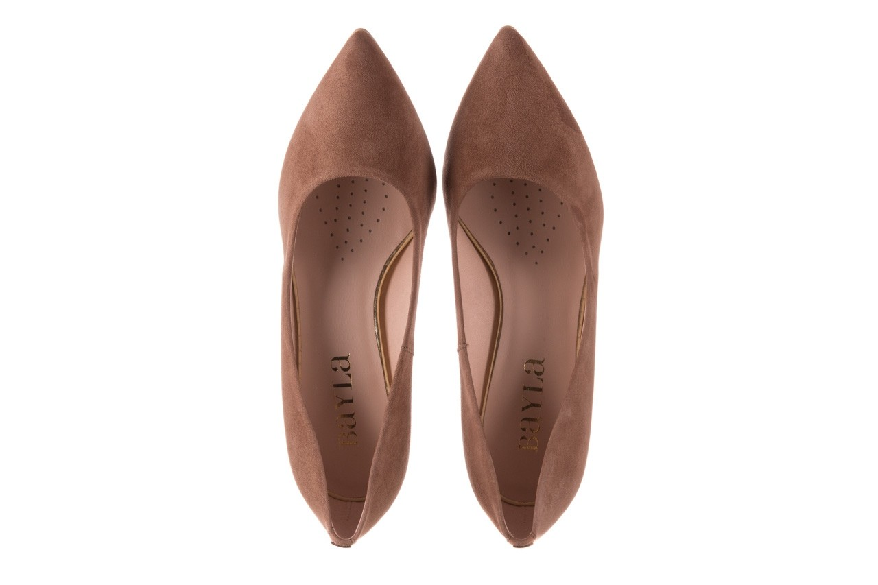 Czółenka bayla-056 9570-1508 beż zamsz, skóra naturalna  - zamszowe - czółenka - buty damskie - kobieta 11