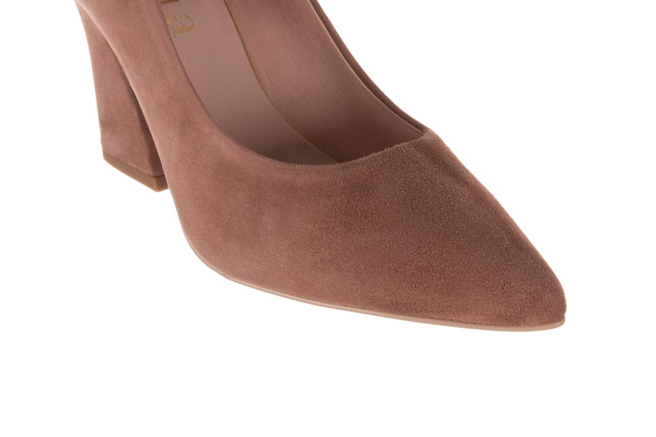 Czółenka bayla-056 9570-1508 beż zamsz, skóra naturalna  - zamszowe - czółenka - buty damskie - kobieta 13