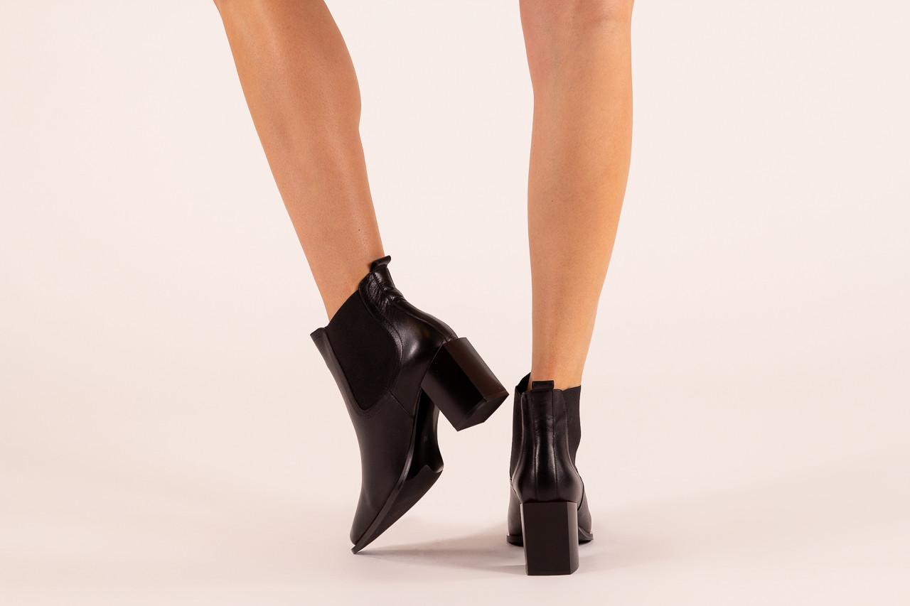 Botki bayla-195 20k-7200 black 195012, czarny, skóra naturalna  - skórzane - botki - buty damskie - kobieta 13