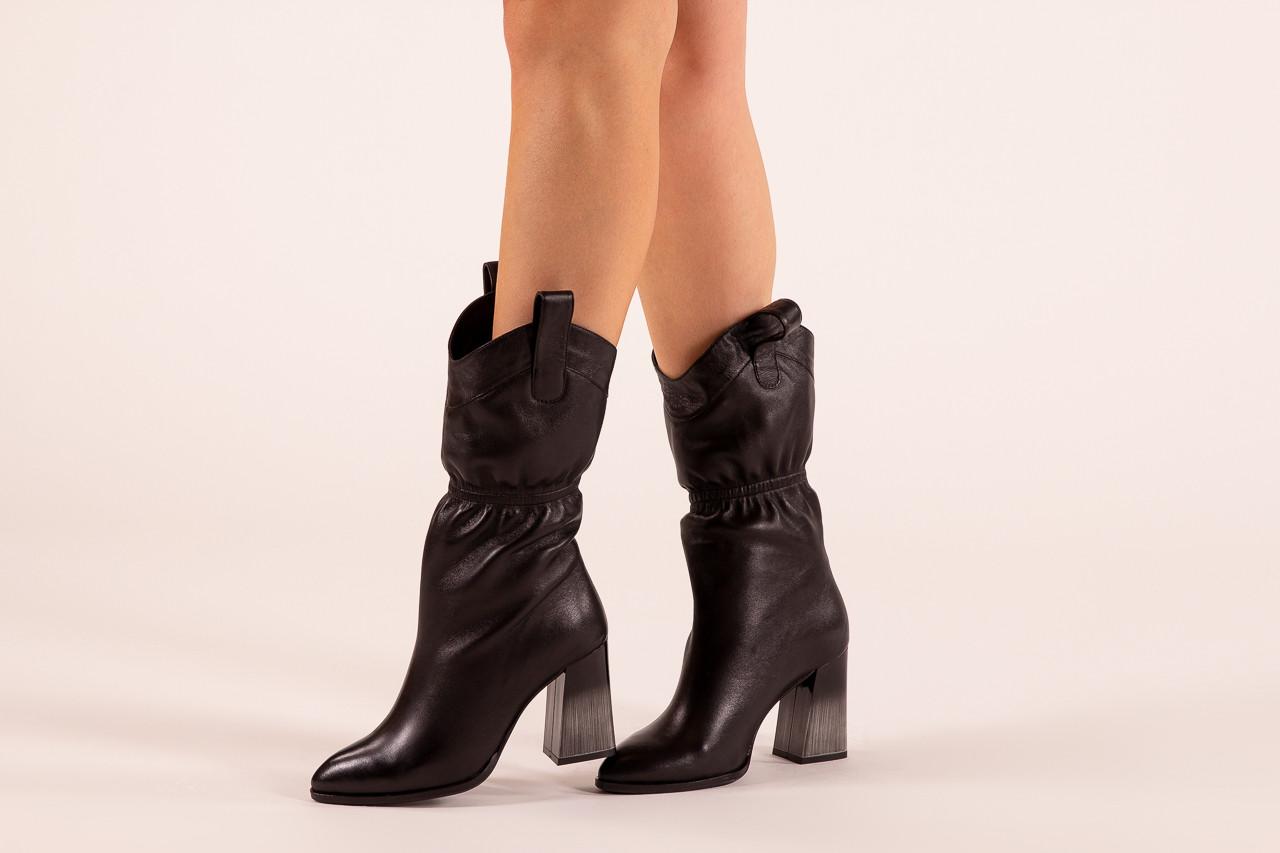 Kozaki bayla-195 20k-7002 black 195008, czarny, skóra naturalna  - kozaki - buty damskie - kobieta 12