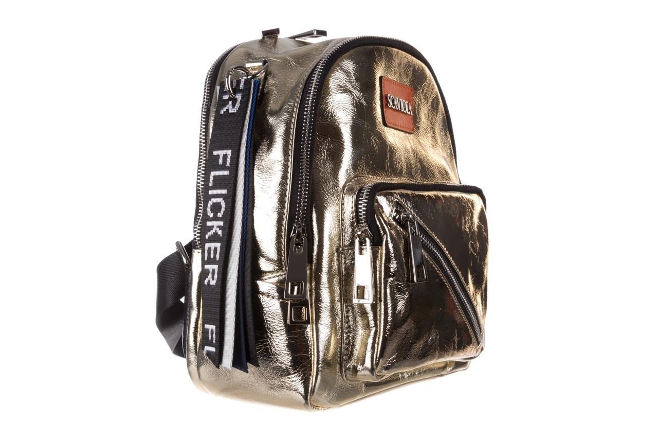 Plecak sca'viola torebka t-84 gold, złoty, skóra naturalna  - plecaki - torebki - akcesoria - kobieta 10