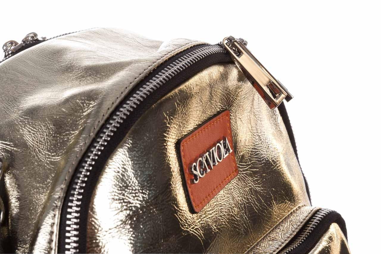 Plecak sca'viola torebka t-84 gold, złoty, skóra naturalna  - plecaki - torebki - akcesoria - kobieta 12