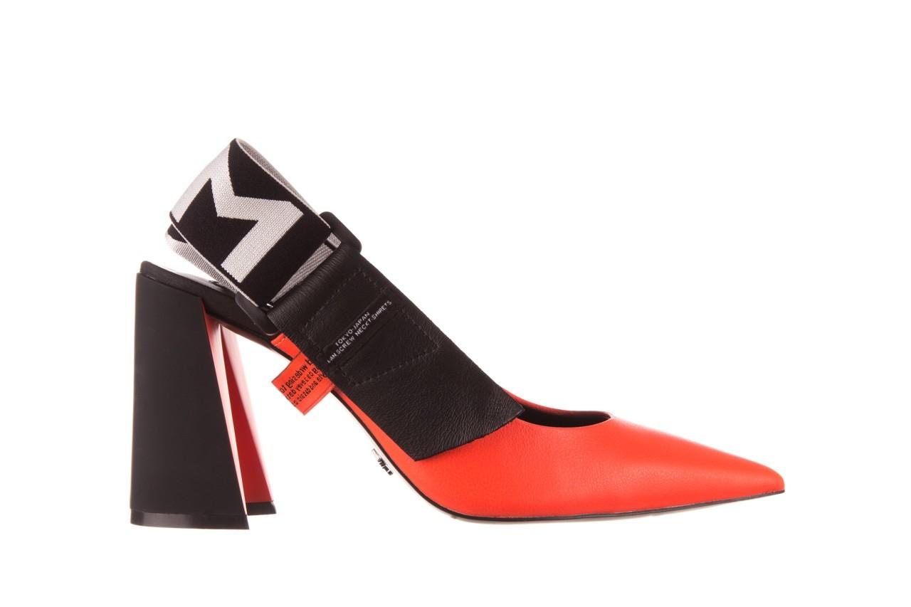 Czółenka sca'viola e-44 orange, pomarańczowy/ czarny, skóra naturalna - na słupku - czółenka - buty damskie - kobieta 10