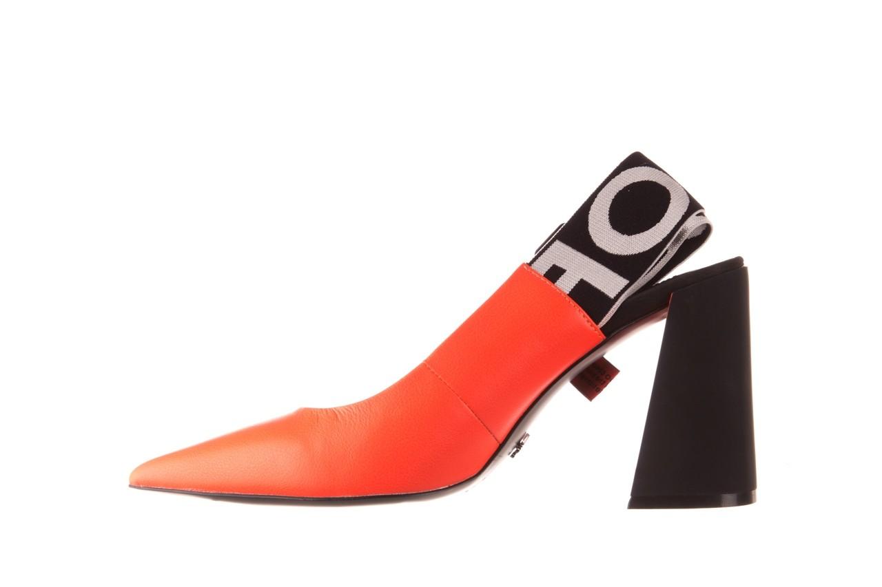 Czółenka sca'viola e-44 orange, pomarańczowy/ czarny, skóra naturalna - na słupku - czółenka - buty damskie - kobieta 12