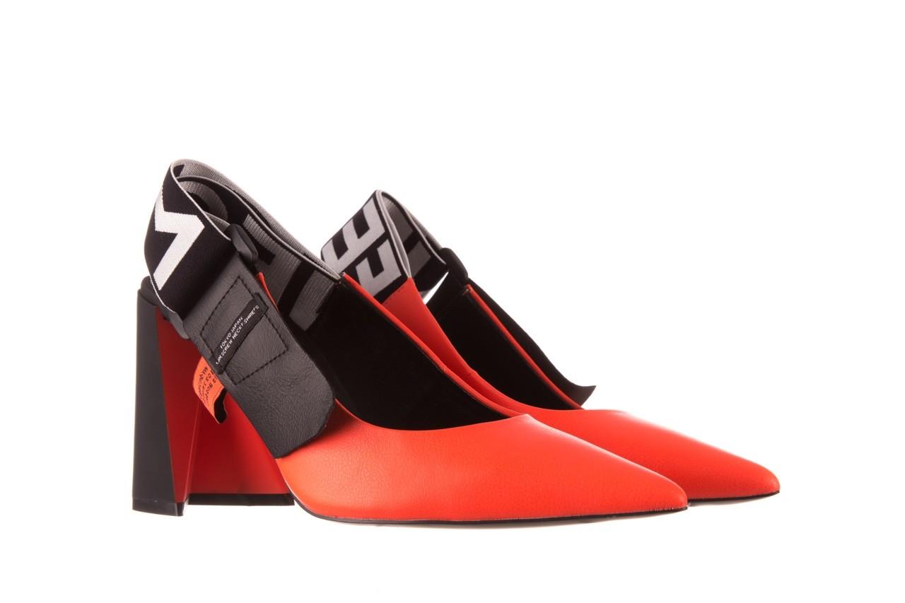 Czółenka sca'viola e-44 orange, pomarańczowy/ czarny, skóra naturalna - na słupku - czółenka - buty damskie - kobieta 11