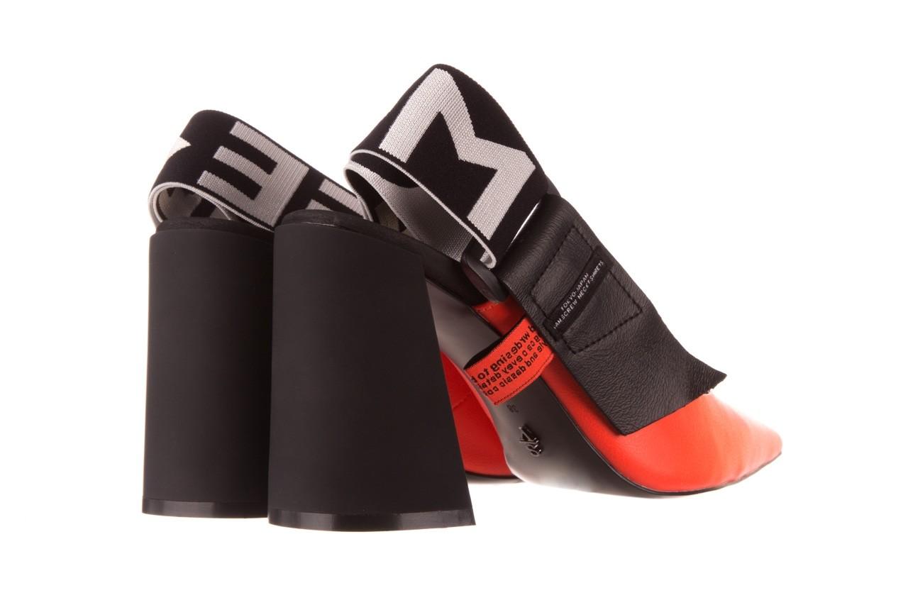 Czółenka sca'viola e-44 orange, pomarańczowy/ czarny, skóra naturalna - na słupku - czółenka - buty damskie - kobieta 13