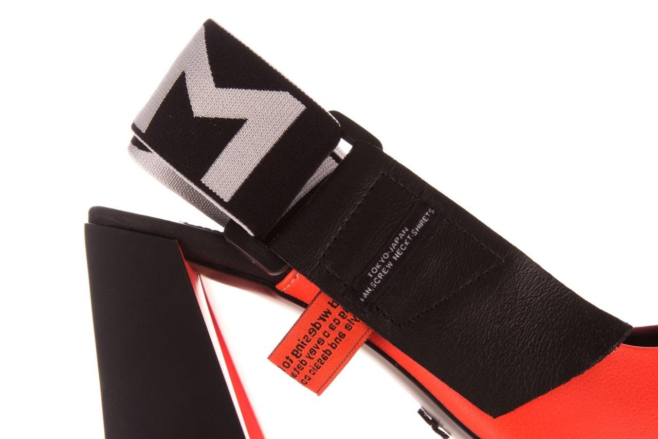 Czółenka sca'viola e-44 orange, pomarańczowy/ czarny, skóra naturalna - na słupku - czółenka - buty damskie - kobieta 16